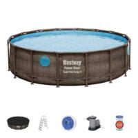 Bazén v ratanovém designu s příslušenstvím