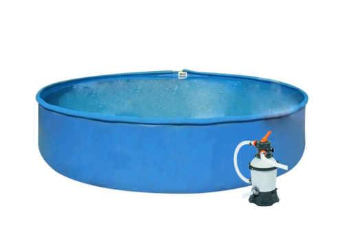 Kvalitní nadzemní kruhový bazén s filtrací