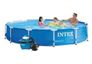 Nadzemní bazén s pískovou filtrací