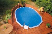 Oválný bazén pro částečné nebo úplné zapuštění