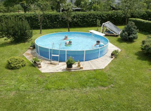 bazén s příslušenstvím kruhový