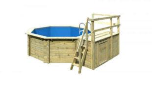 Dřevěný bazén osmiúhelníkového tvaru