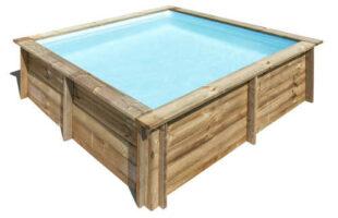Dřevěný bazén s kartušovou filtrací