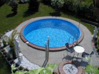 Kruhový bazén INET Miláno pro částečné či úplné zapuštění