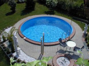 Kruhový bazén pro částečné či úplné zapuštění