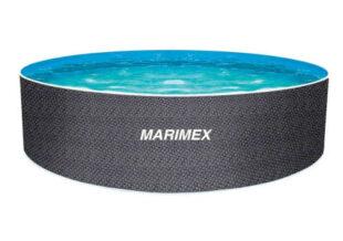 Kruhový nadzemní bazén v ratanovém motivu