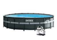 Nadzemní bazén s pevnou stěnou a filtrací
