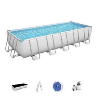 Obdélníkový bazén s pevnou konstrukcí