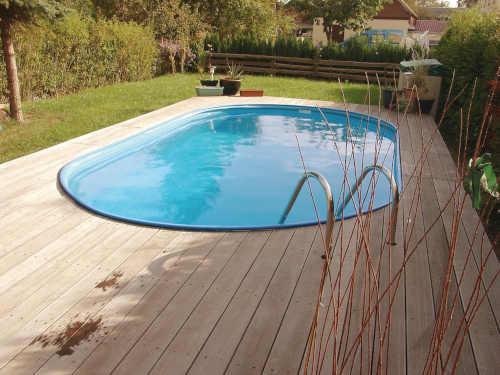 Oválný zapuštěný bazén Toscana