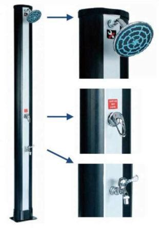 Solární sprcha v inovativním provedení