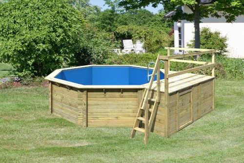 kvalitní dřevěný zahradní bazén