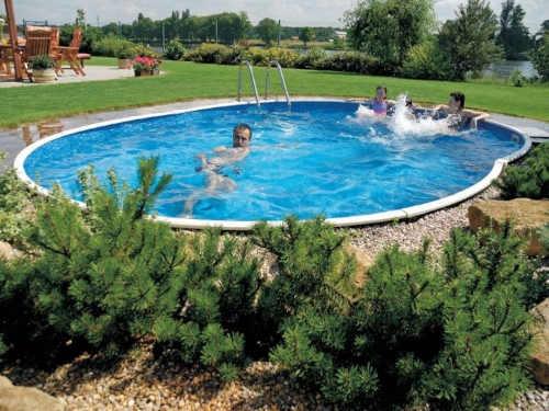 kvalitní oválný nadzemní bazén
