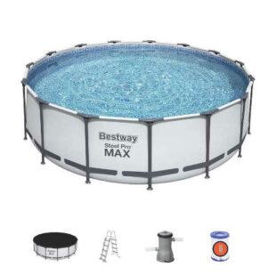 Bazén s kovovou konstrukcí a příslušenstvím