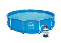 Bazén s kovovým rámem a filtrací