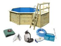 Bazén v luxusním dřevěném provedení s příslušenstvím
