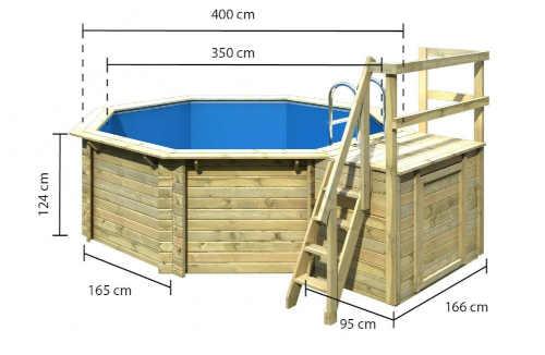 velký luxusní bazén nadzemní